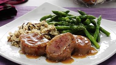 Honey Dijon Pork Tenderloin with Asparagus