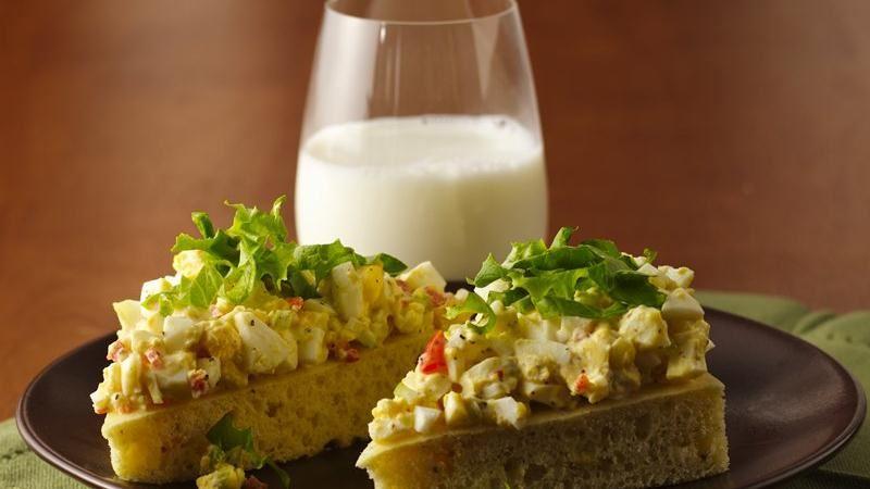 Open-Face Egg Salad Sandwiches