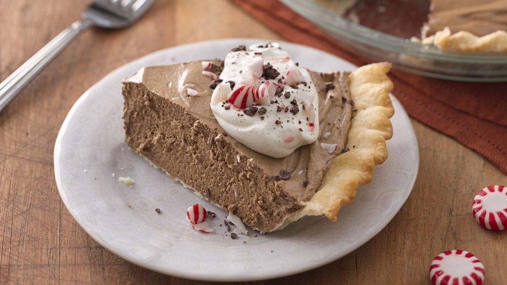 Peppermint Mocha French Silk Pie