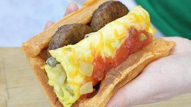 Mexican Breakfast Waffle Tacos