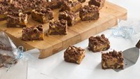 Double-Chocolate and Caramel Bars (Cookie Exchange Quantity)