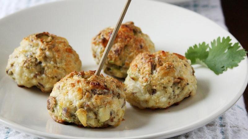 Pistachio White Cheddar Cheese Balls