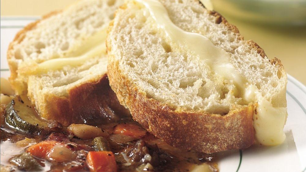 Caesar-Mozzarella French Bread