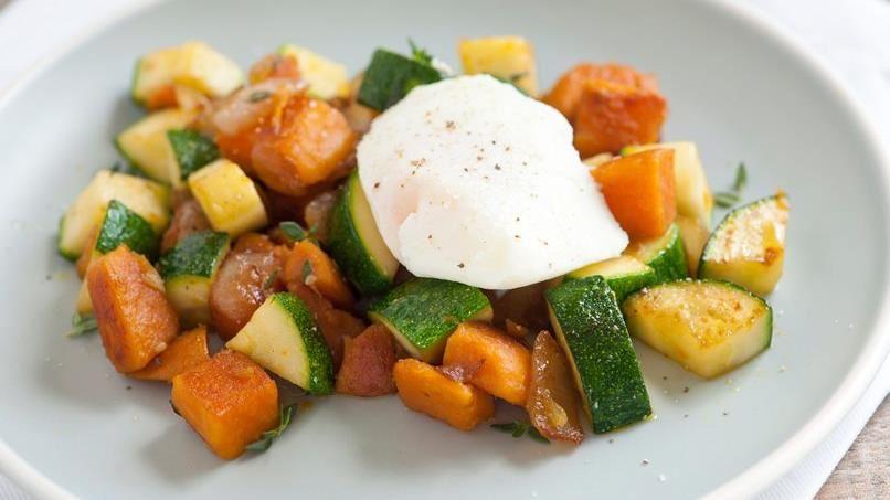 Sweet Potato and Zucchini Hash