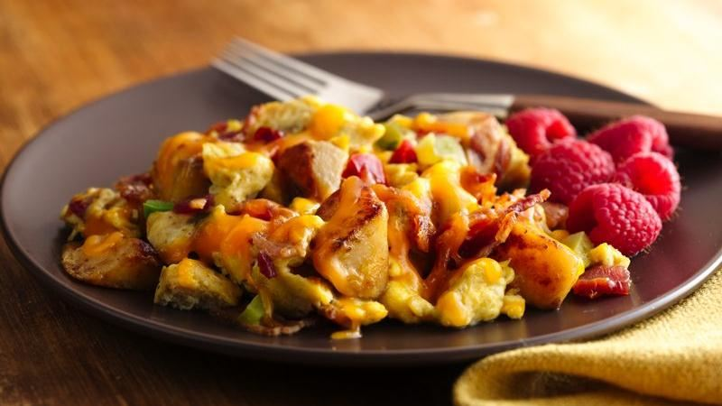 Roasted Potato Egg Scramble