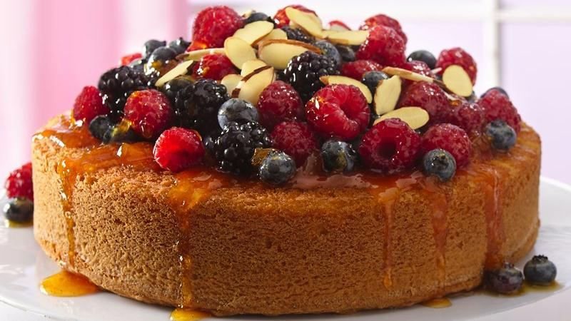 Cake With Fruit Topping : Fruit-Topped Almond Cake recipe from Betty Crocker