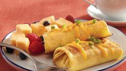 Bacon and Cheese Blintzes