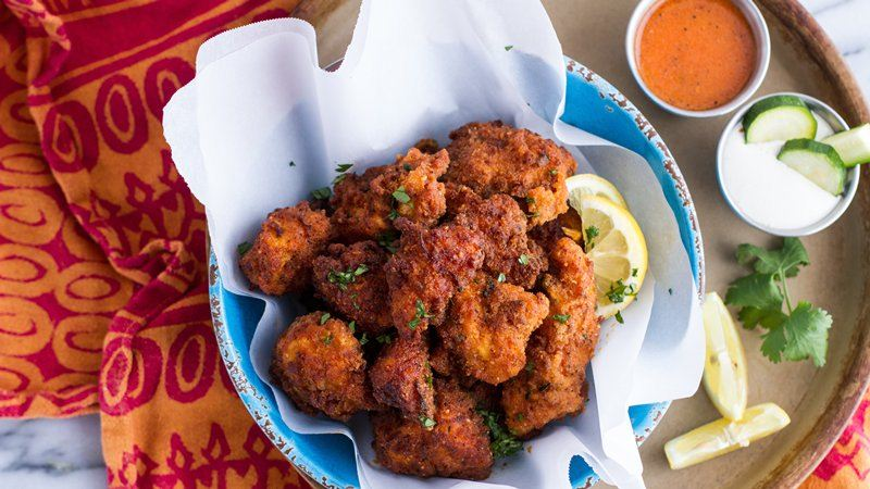 Zucchini-Crusted Buffalo Chicken Nuggets