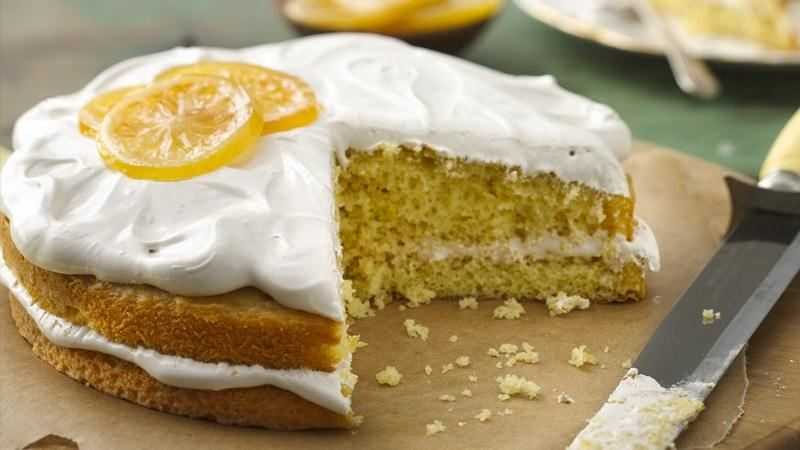 Lemon Cake with Irish Breakfast Tea Frosting