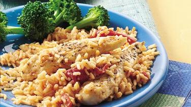 Quick Italian Chicken and Rice