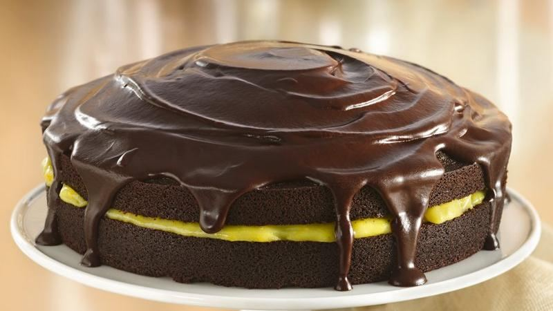 Chocolate-Orange Cake with Ganache Glaze recipe from Betty Crocker