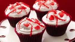 Gluten-Free Valentine Confetti Cupcakes