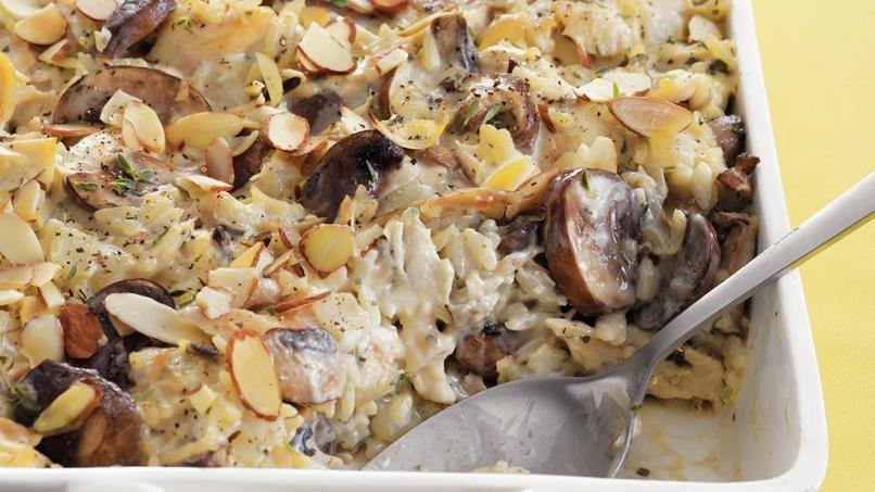 Chicken, Mushroom and Wild Rice Bake