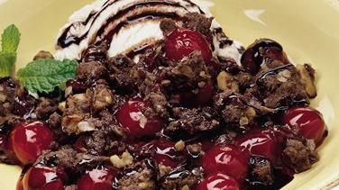 Chocolate-Cherry Crisp