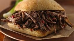 Slow-Cooker Tangy Italian Beef Sandwiches