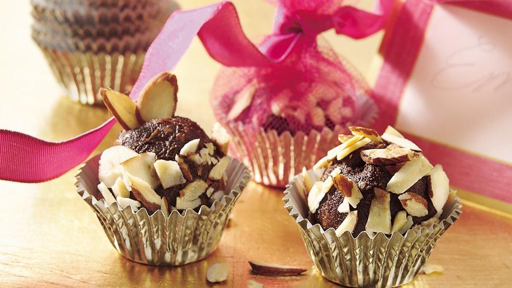 Orange-Toffee-Almond Truffles