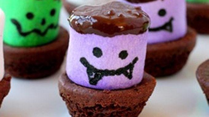 Creepy Brownie Bites