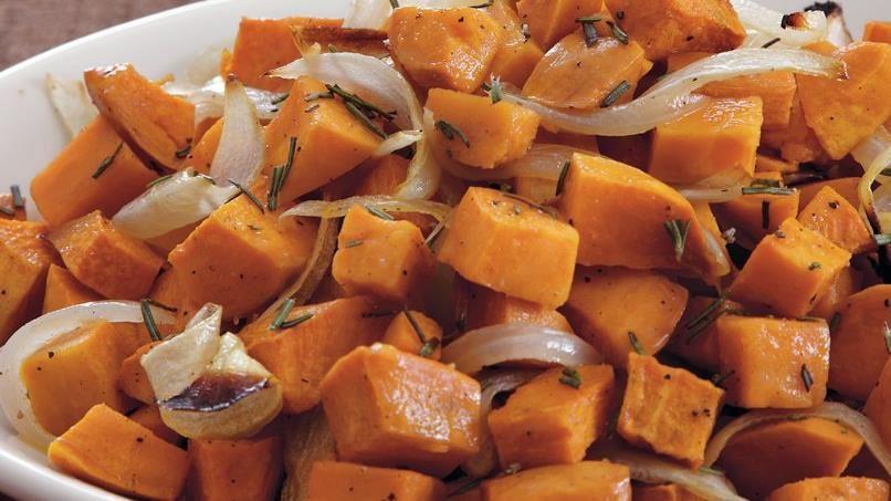 Warm Rosemary-Sweet Potato Salad