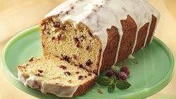 White Chocolate-Iced Cranberry Bread