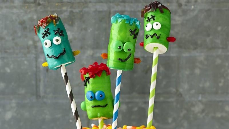 Frankenstein Fruit Roll-Ups™ on a Stick