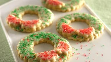 Christmas Wreath Sugar Cookies