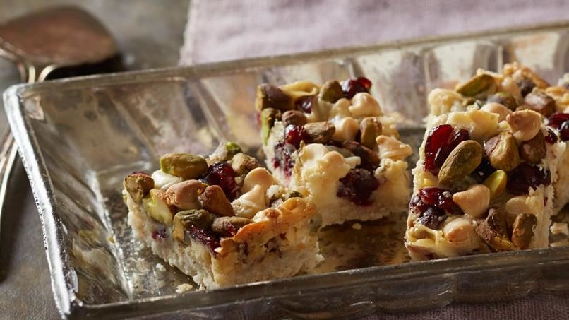 Gluten-Free Vanilla Chip Cranberry Bars