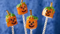 Fruit Roll-Ups™ Jack-o'-Lanterns on a Stick