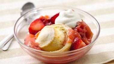 Strawberry-Rhubarb Crescent Shortcakes