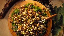 Wild Rice-Chicken Salad with Raspberry Vinaigrette