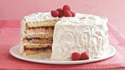 Raspberry-Laced Vanilla Cake