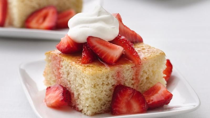 Healthified Strawberry Shortcake Squares