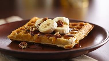 Gluten-Free Banana Pecan Waffles