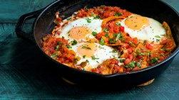 Easy Eggs with Salsa and Tortilla Chips