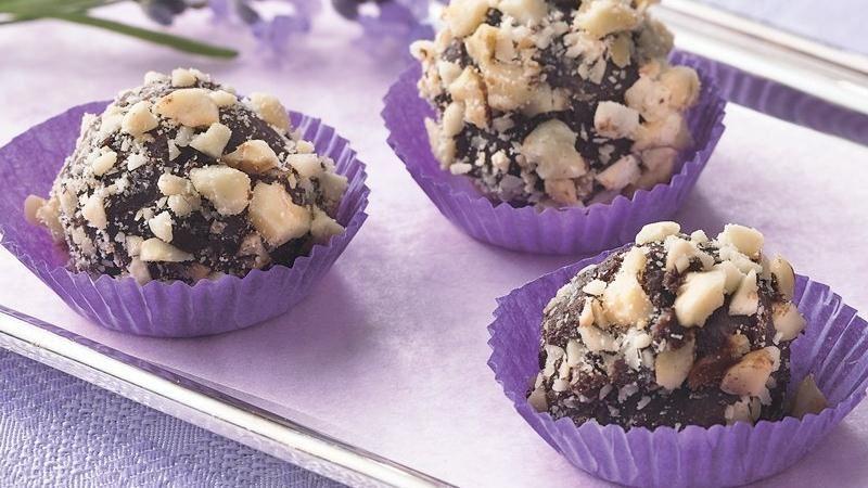 Dark Chocolate-Hazelnut Truffles