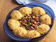 Corn Bread-Topped Black Bean Chili Casserole