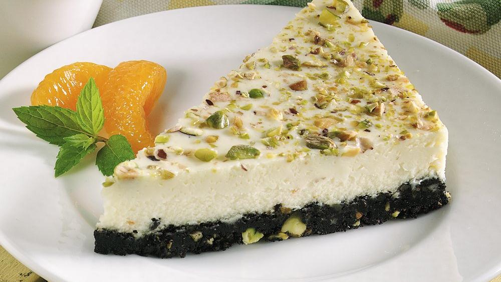 Pistachio Cheesecake Triangles