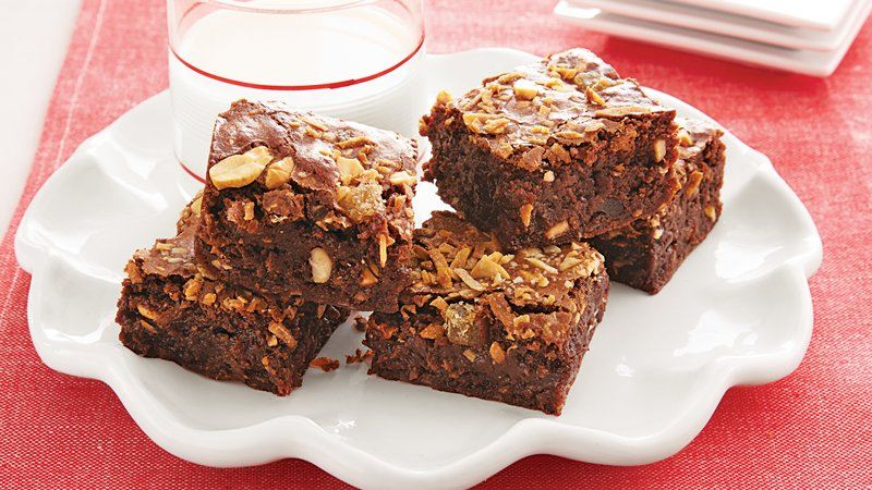 Toasted Coconut Cashew Brownies