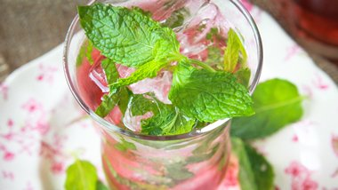 Cranberry Holiday Mojito