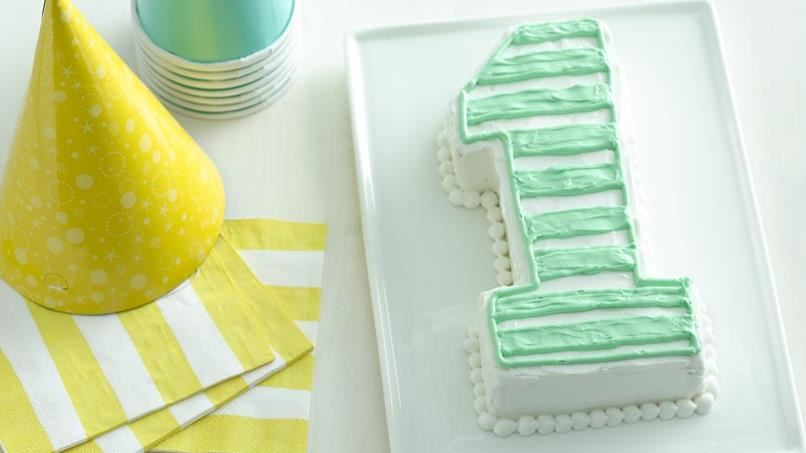 No. 1 Cutout Cake