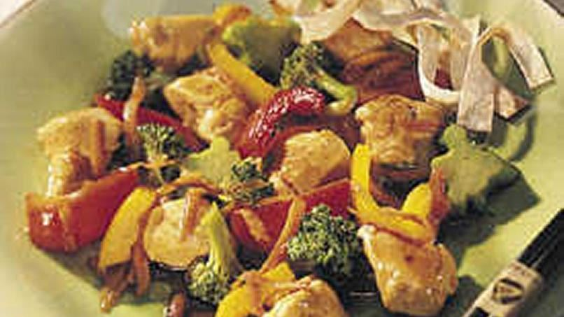 Vegetable-Chicken Stir-Fry