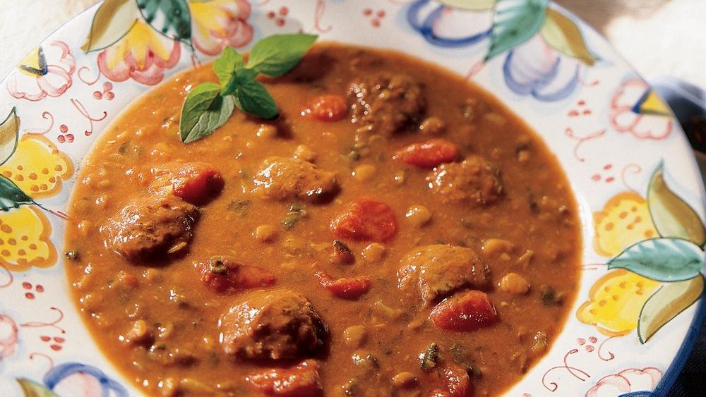 Italian Meatball and Lentil Soup