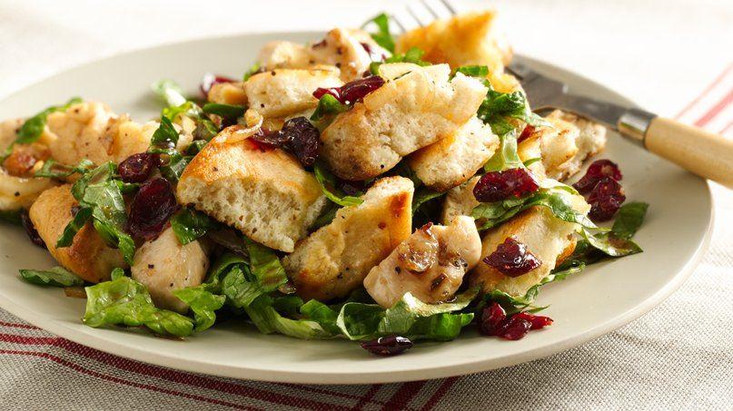 Balsamic Chicken Cranberry Panzanella