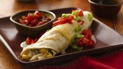 Enchiladas cremosas de pollo