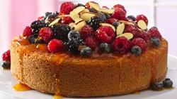 Fruit-Topped Almond Cake