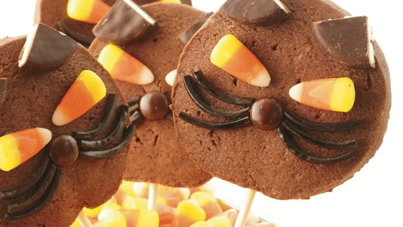 Black Cat Cookie Pops