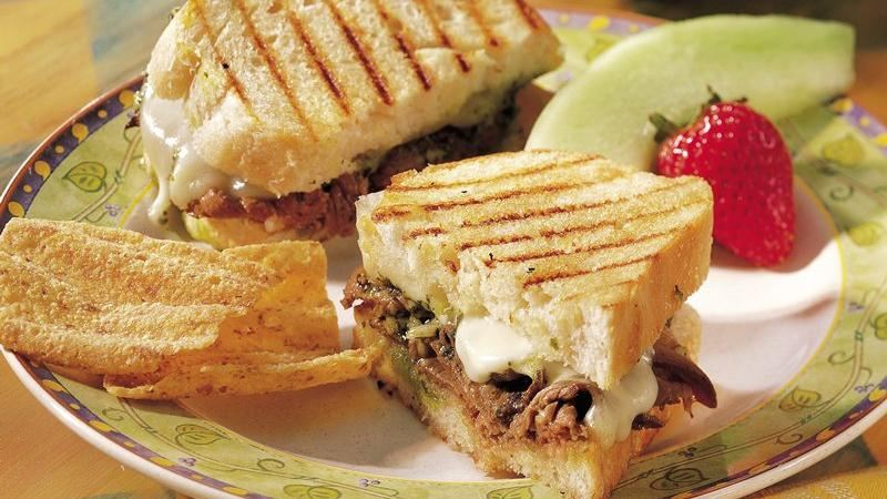 Beef-Pesto Panini