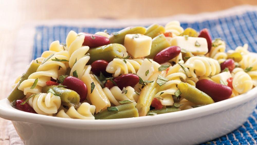 Three-Bean Pasta Salad