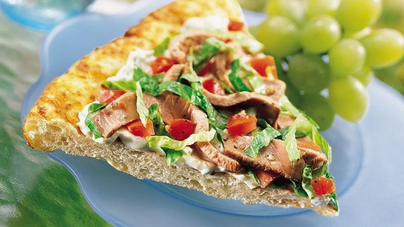 Cold Roast Beef Sandwich Pizza