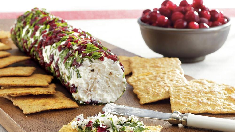 Holiday Goat Cheese Log