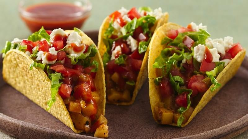 Mexican Potato Tacos
